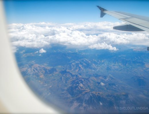 Finding cheap flights: looking out from an airplane window