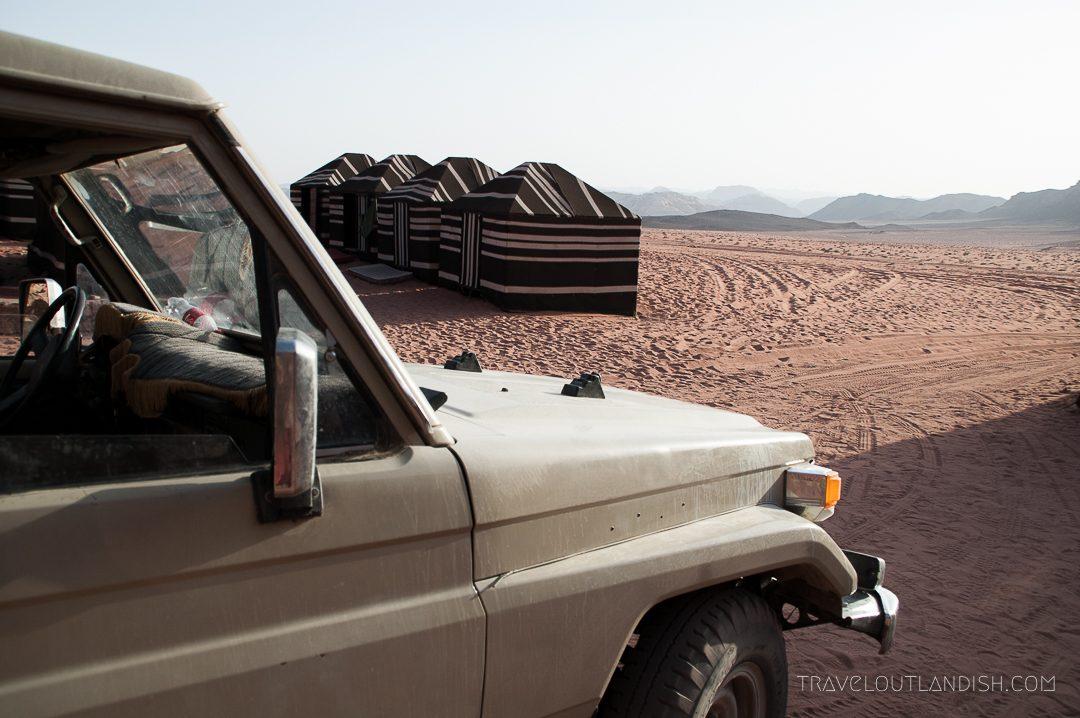 Desert Camping in the Wadi Rum - Vehicle