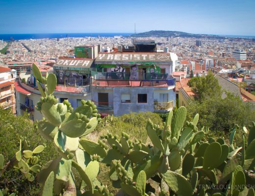 View across Barcelona from Parc Guell