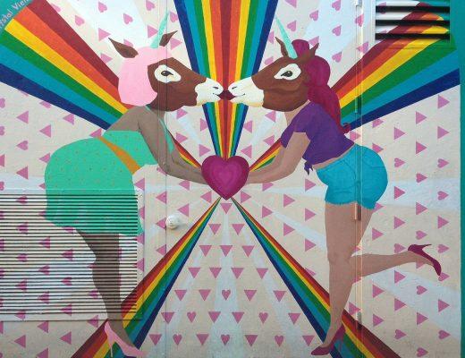 Kissing Donkeys Street Art in San Francisco