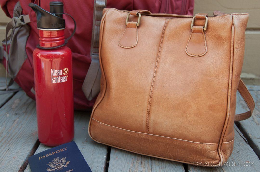 Round the World Trip Essentials - Travel Purse and Klean Kanteen
