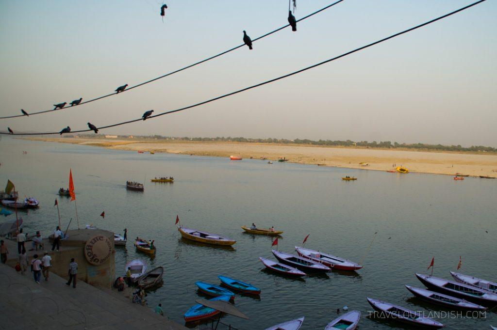 Varanasi Boats at Sunset