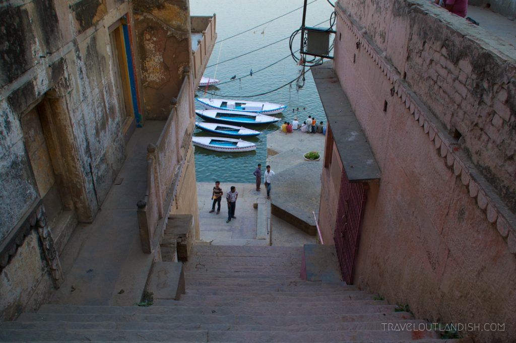 View down a Staircase in Varanasi, India