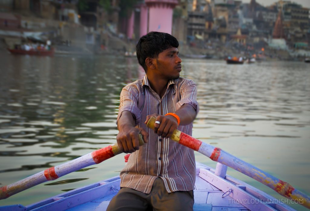 Row boat on the Ganges