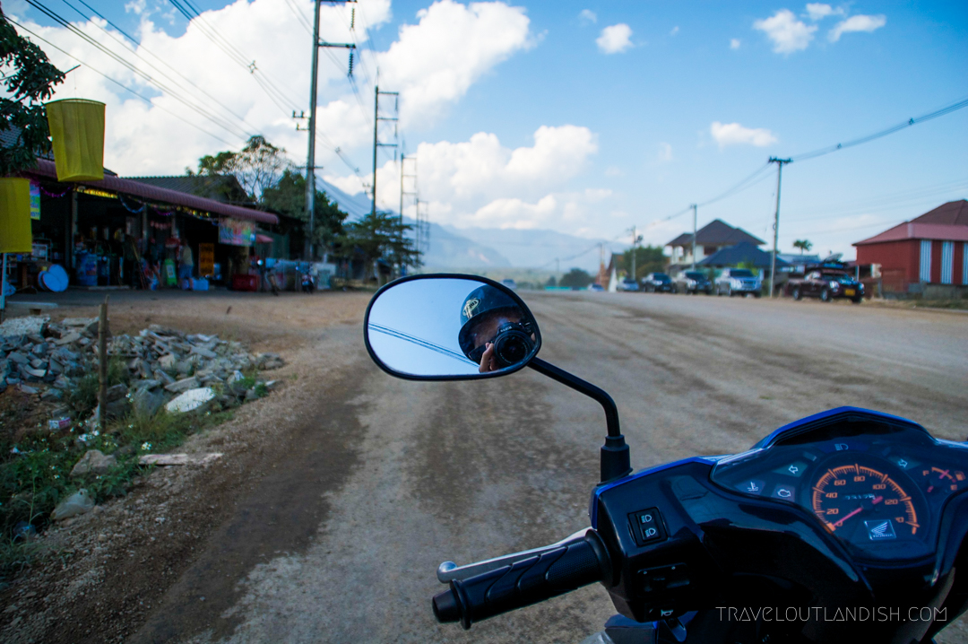 Fun Things to do in Chiang Mai - View from the motorbike en route to Chiang Dao