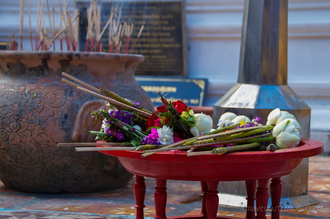 Fun Things to do in Chiang Mai - Floral offering at Doi Suthep