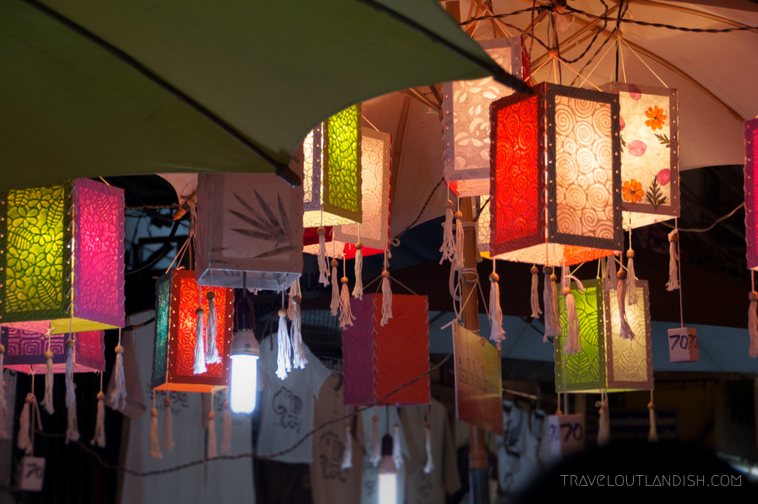Fun Things to do in Chiang Mai - Paper lanterns at Chiang Mai walking street