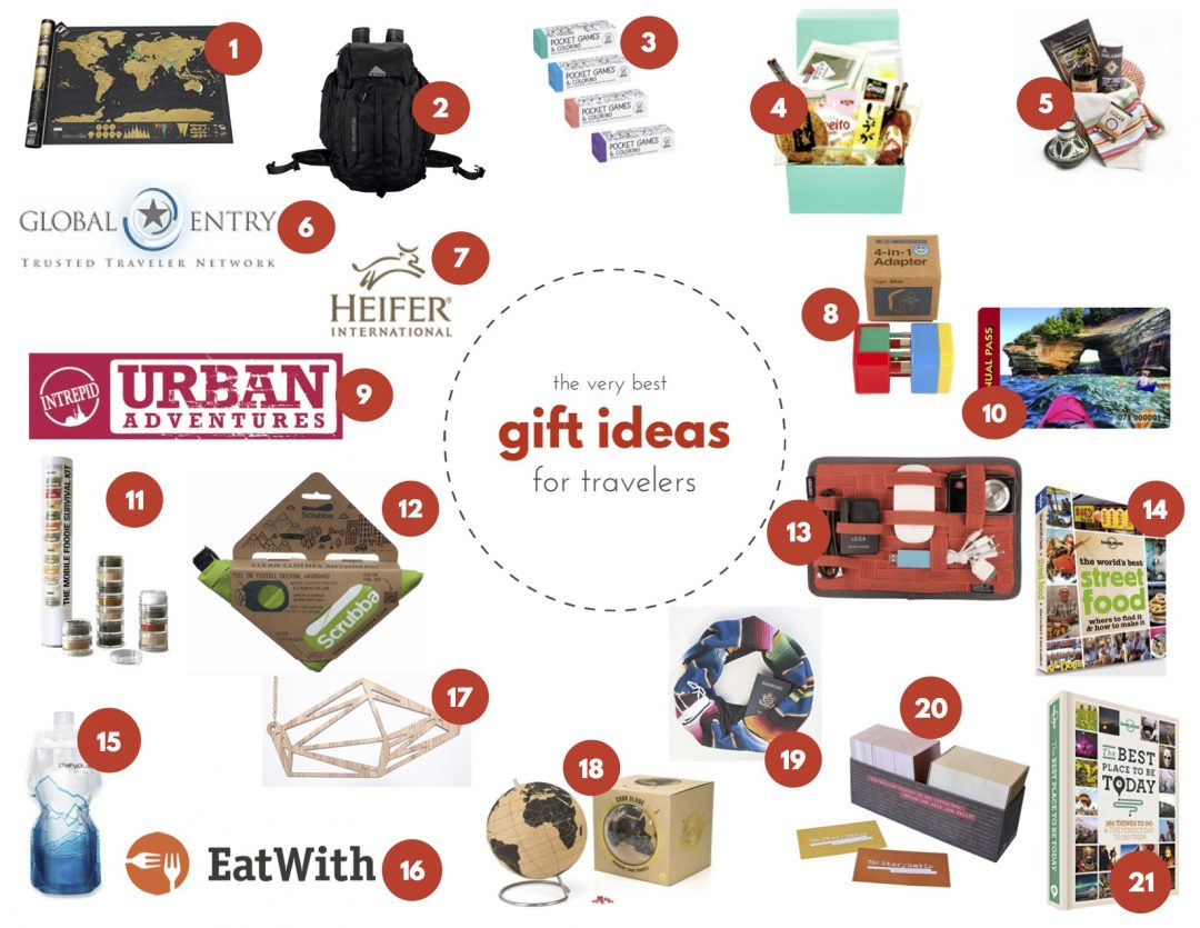 21 easy to pack gift ideas for travelers general for Good gifts for a traveler