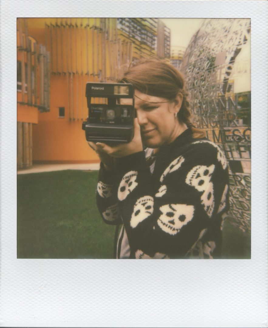 Snapping polaroids in Prater