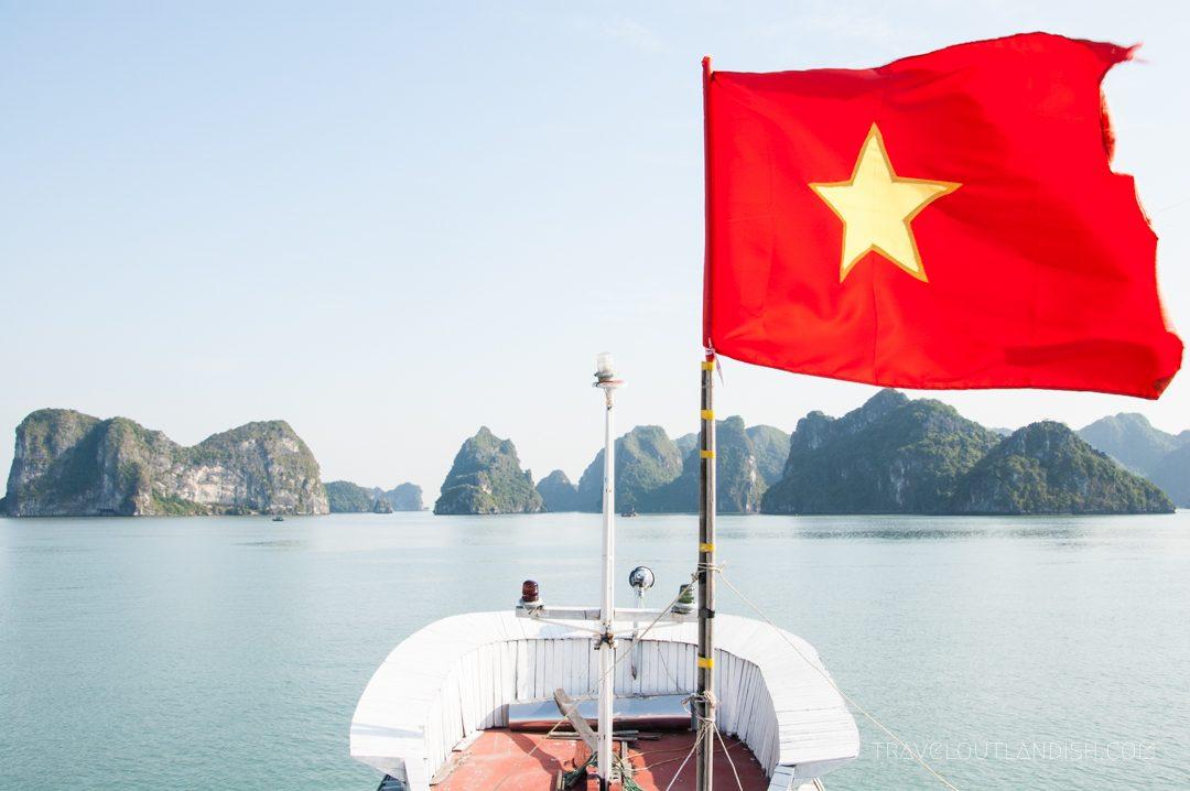 Vietnam Flag in the Wind