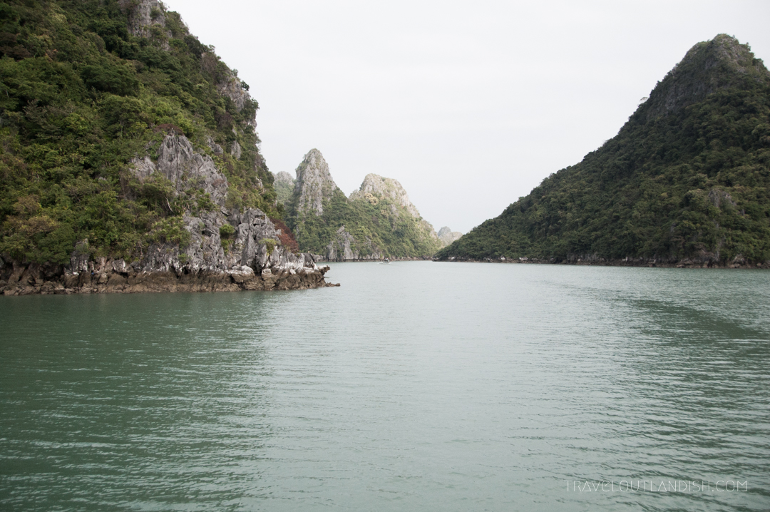 Bai Tu Long Bay - A narrow passageway through the karsts of Bai Tu Long Bay