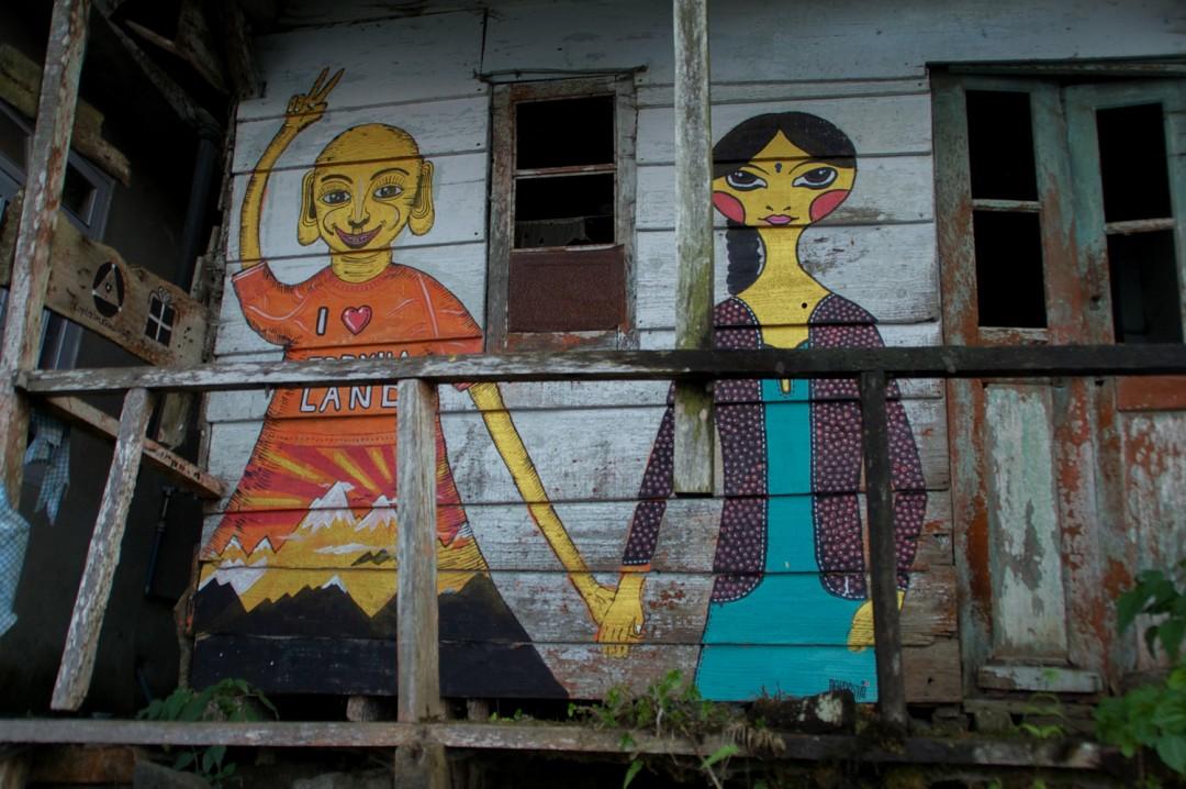 India: Ghorkaland Mural