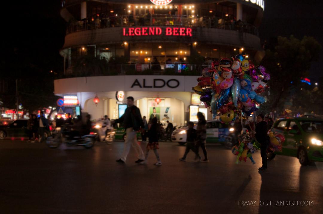 A Ballon Seller on a Street Corner