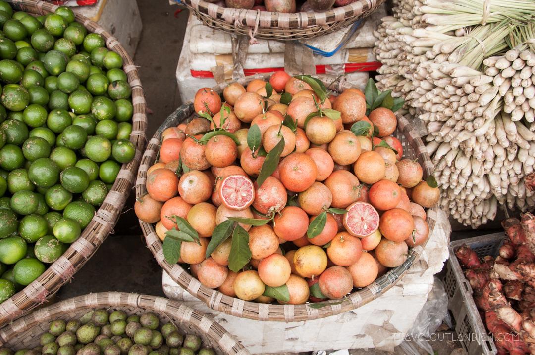 Hanoi Market Fruit Vendor