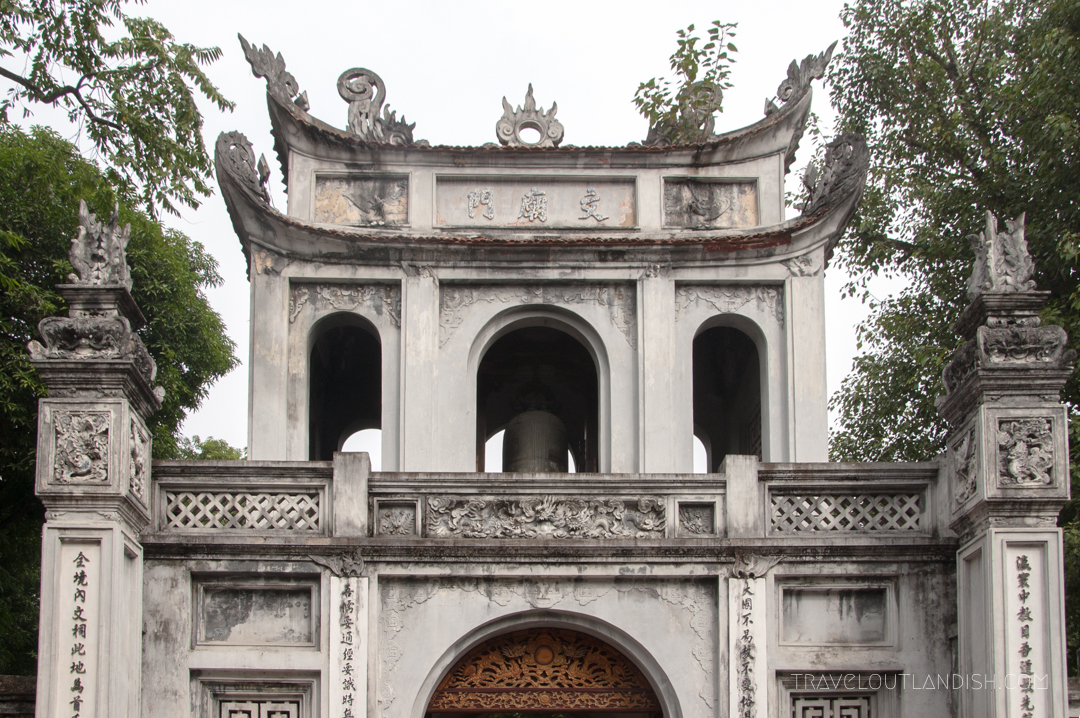 The Top of a Temple in Downtown Hanoi