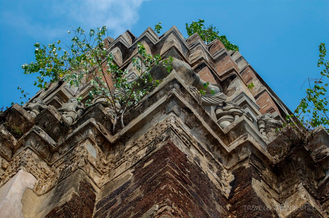 Detailed view of the temples of Ayutthaya
