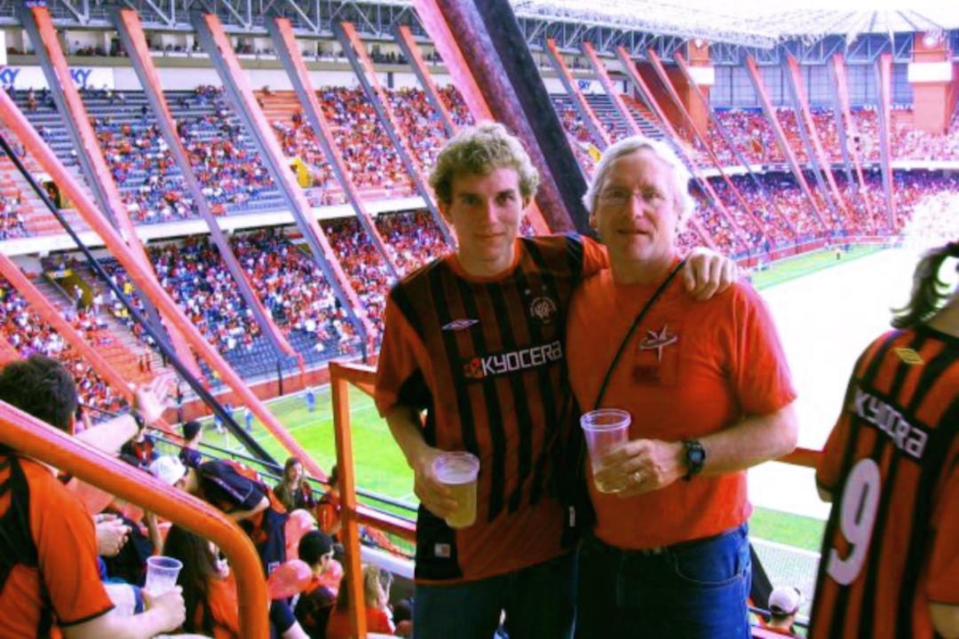 Daniel at a Brazilian Soccer Game
