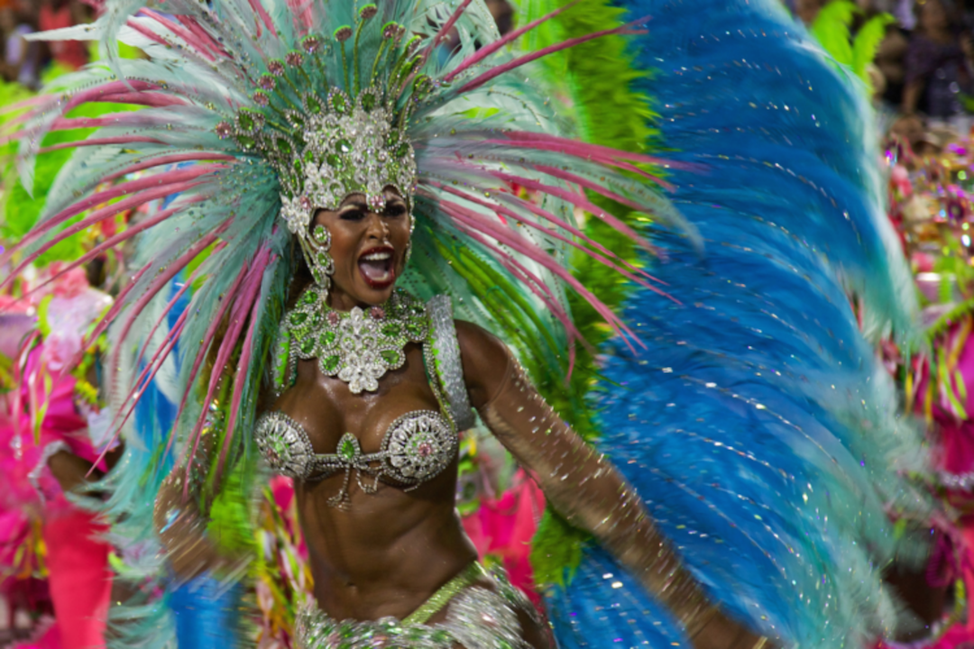 Dancer at Carnival in Rio de Janiero