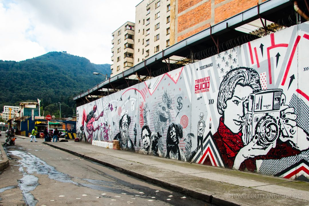 Scoping out the murals is one of the best travel experiences in Bogotá