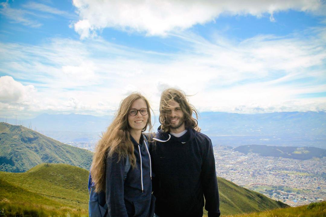View from Pichincha Volcano in Quito