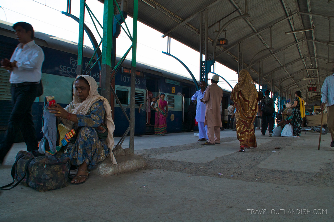 Waiting for the train in New Delhi