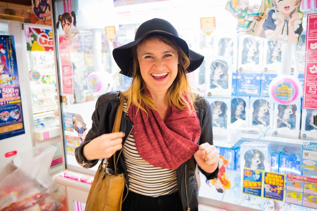 Taylor in a Tokyo Arcade
