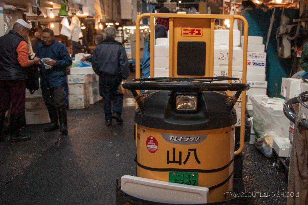 A Cart Used to get around Tsukiji Fish Market
