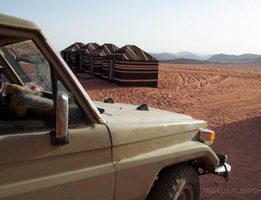 Desert camping in the Wadi Rum Desert
