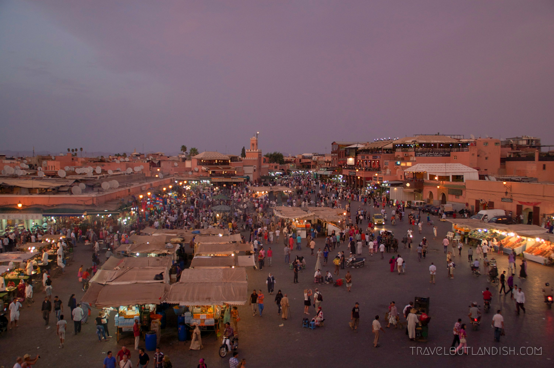 Moroccan Hammams - Djeema al Fna at Night