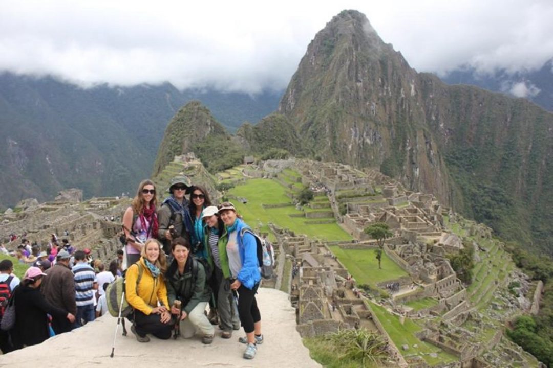 View from the Sungate at Machu Picchu