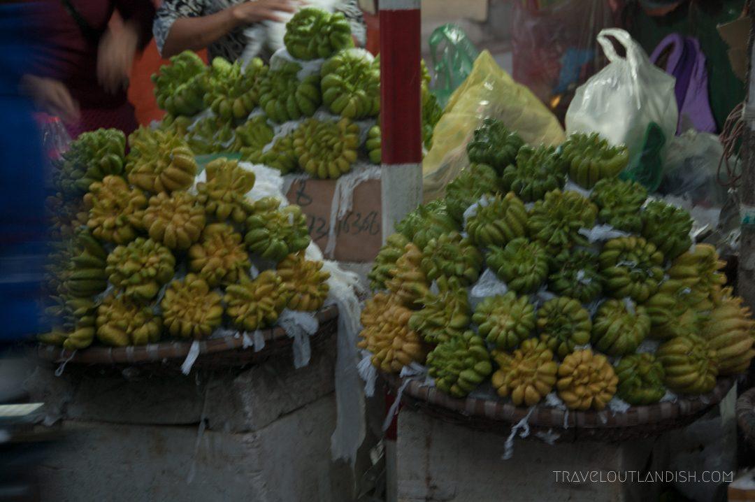 Northern Vietnamese Street Food - Buddha's Hand Fruit at Hanoi Night Market