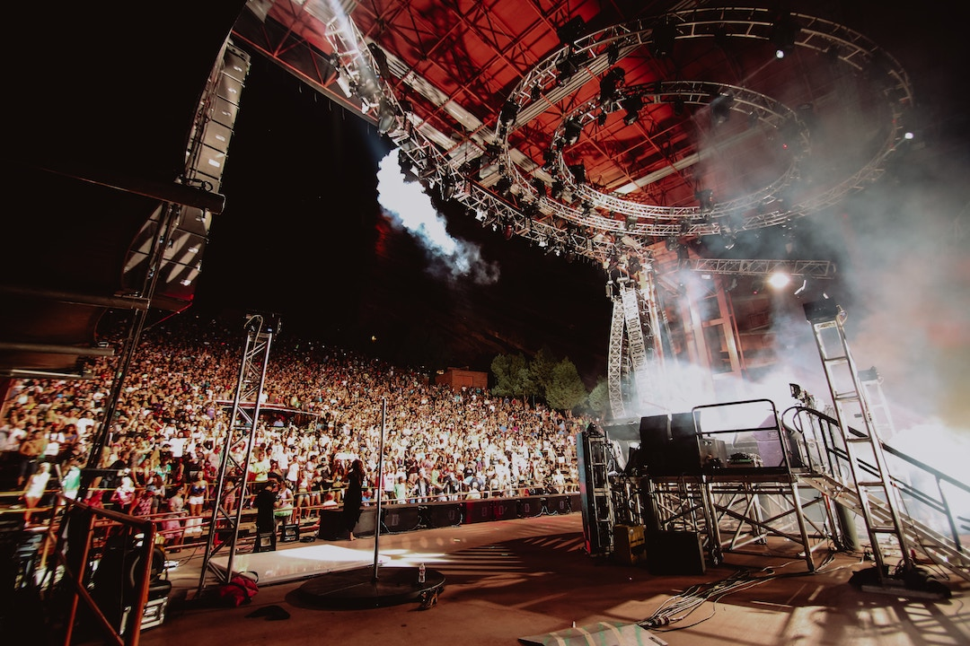 View from the stage at Red Rocks Amphitheatre