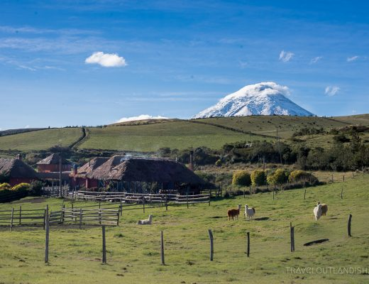 Hacienda el Porvenir with Volcan Cotopaxi in the Background