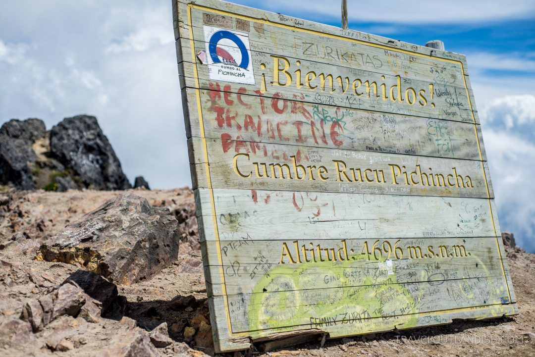 Summit Sign at Rucu Pichincha