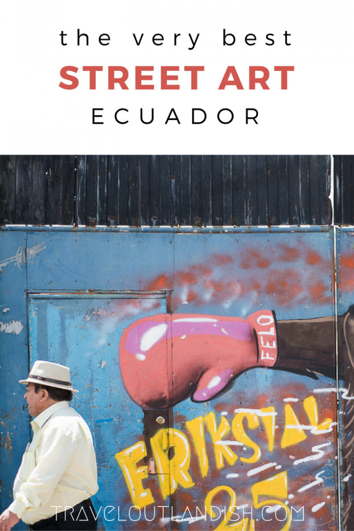 South America has some of the world's best street art cities. Take a look at photos from some of the best street art and graffiti in Ecuador!