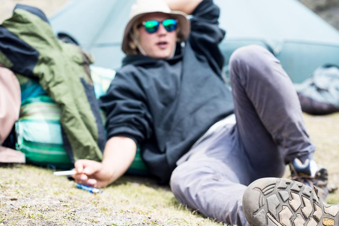 The Santa Cruz Trek - Chilling at Camp
