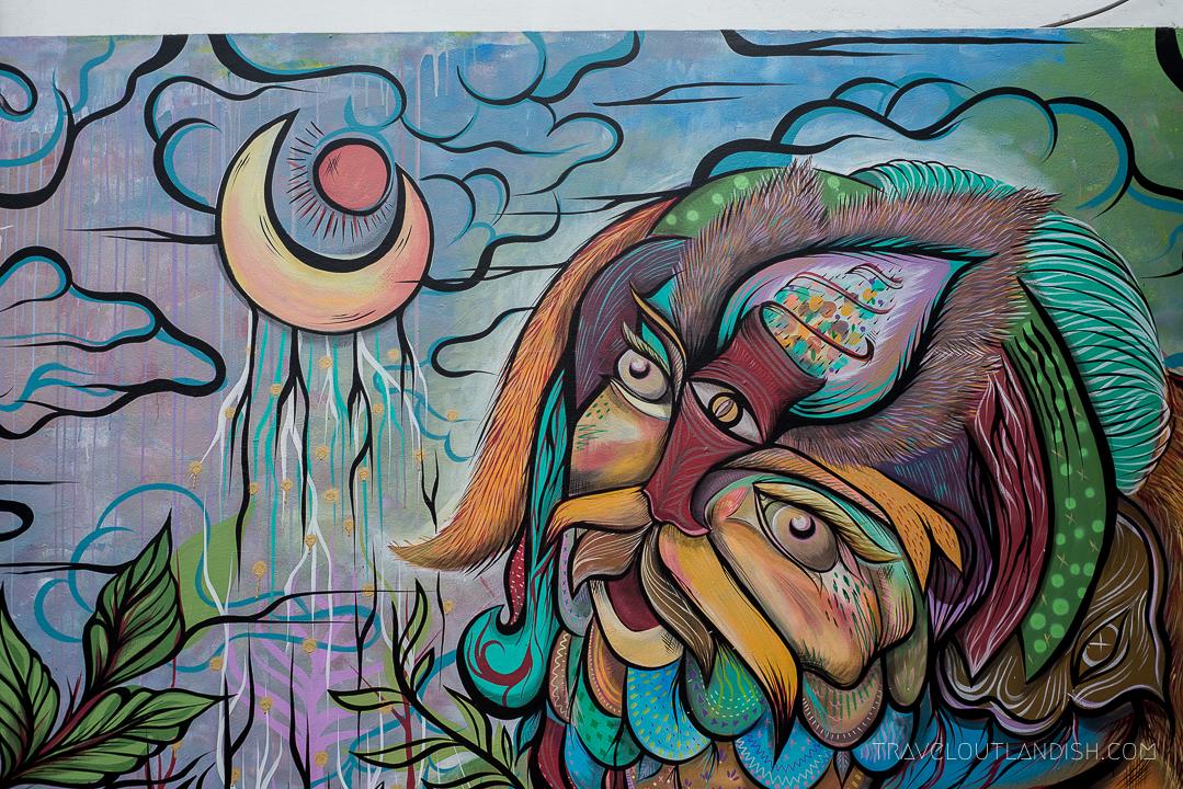 Street Art in Lima - Mural by Fania