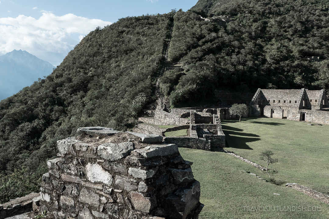 View of the Plaza at Choquequirao Ruins
