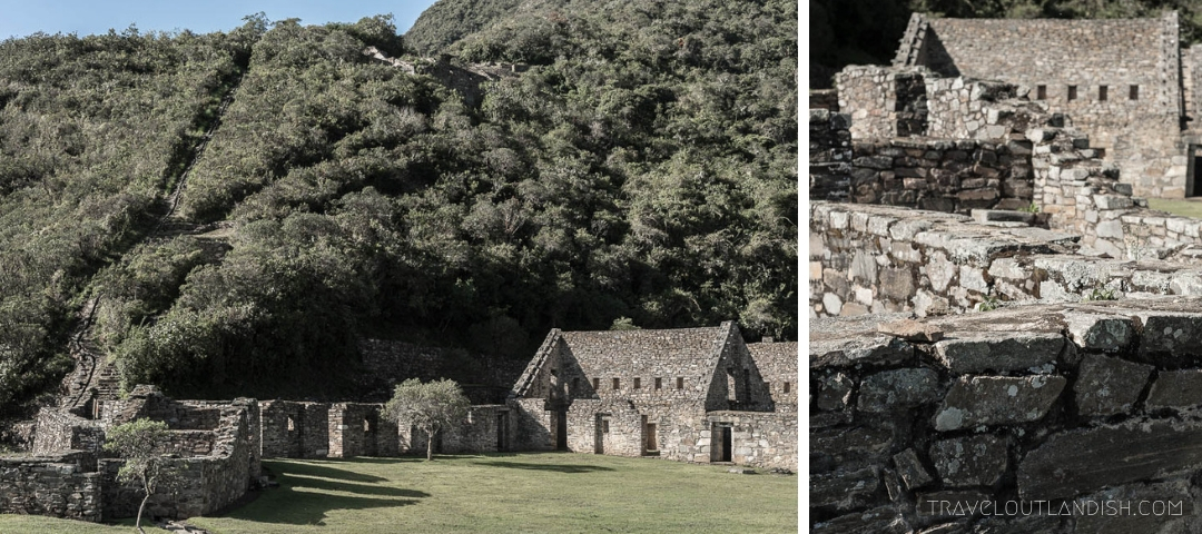Collage of the Stonework at Choquequirao