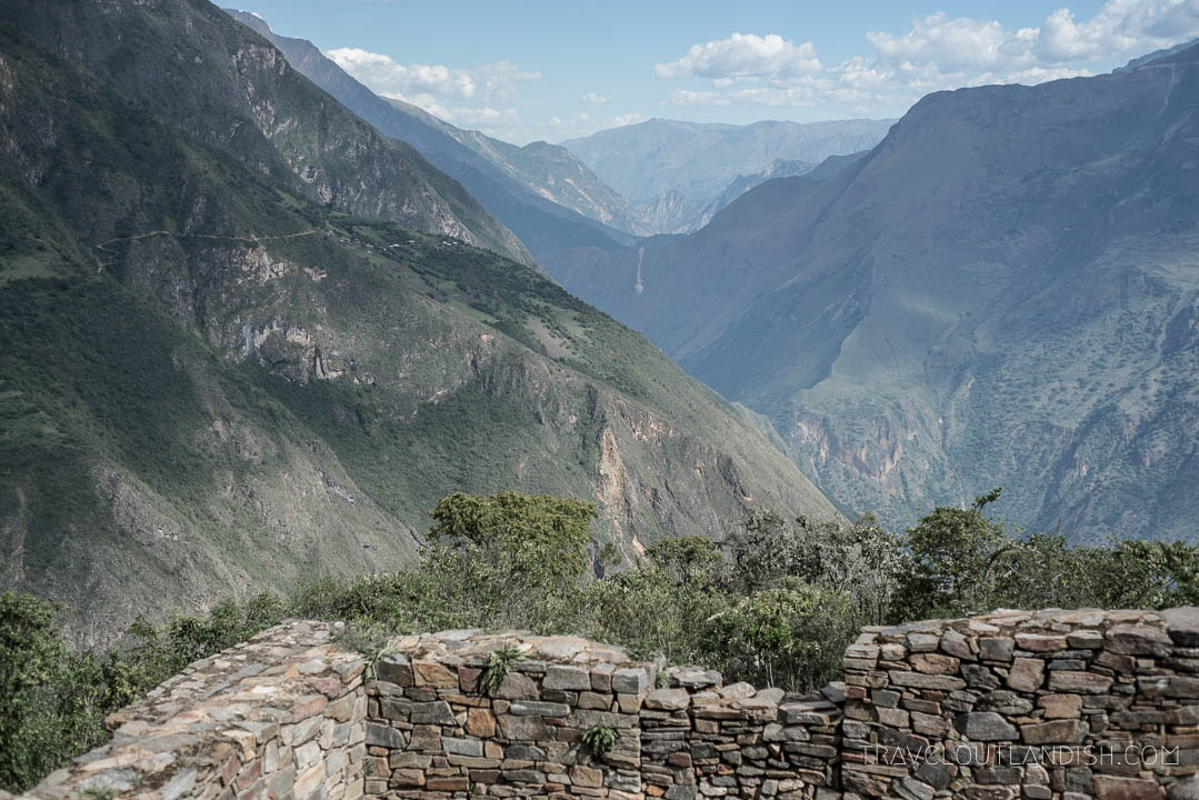 Views across the Apurimac Canyon from Choquequirao