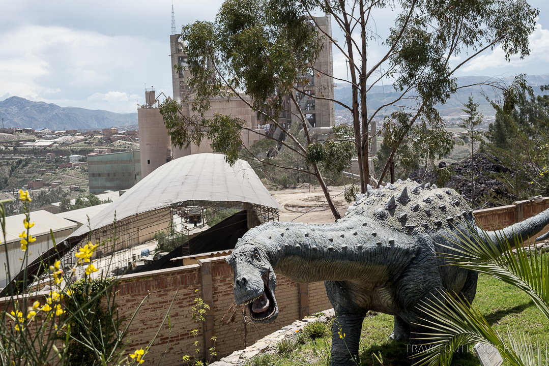 Dinosaur Dance Floor - View of Parque Cretacio + Concrete Plant