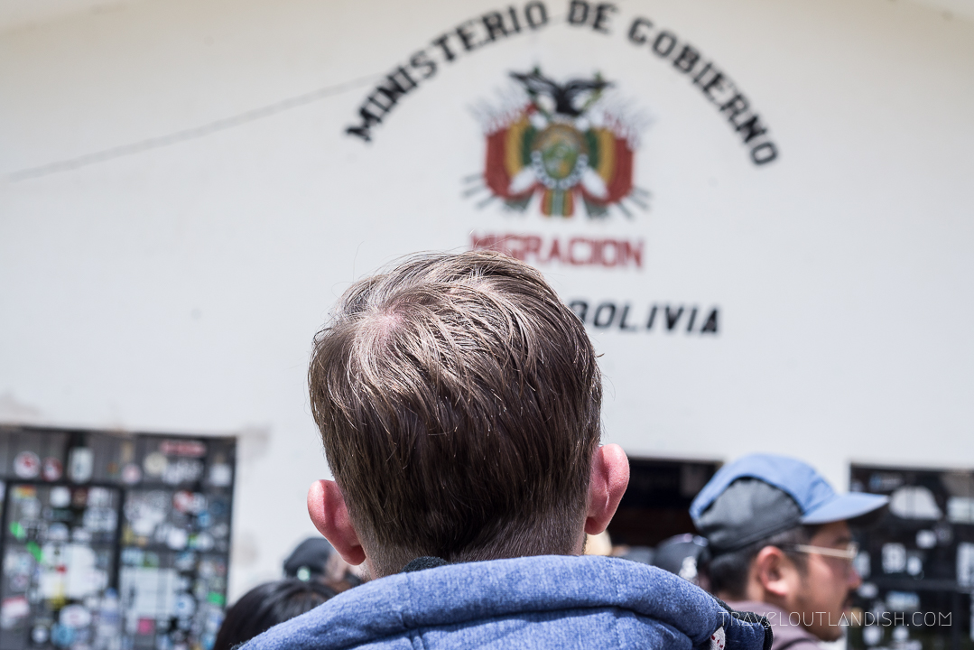 Cusco to La Paz - Daniel waiting for a Bolivian Visa