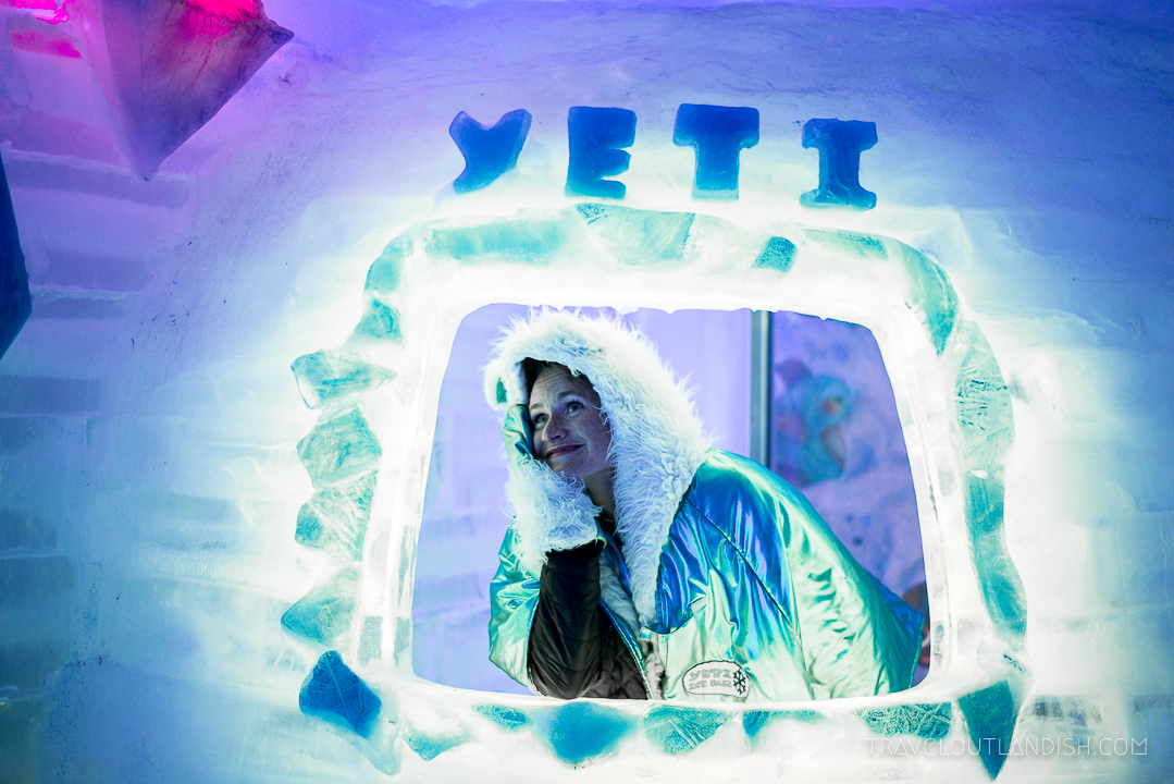Ice Bar Argentina - Taylor in the Window