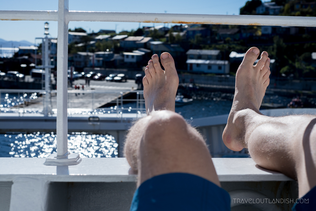 Naviera Austral Ferry - Feet off the Front