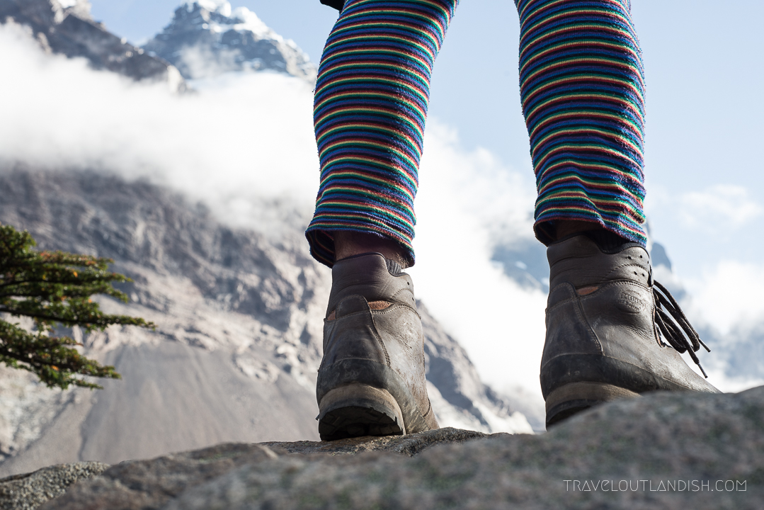 Hiking Boots in Valle del Frances in Torres del Paine National Park