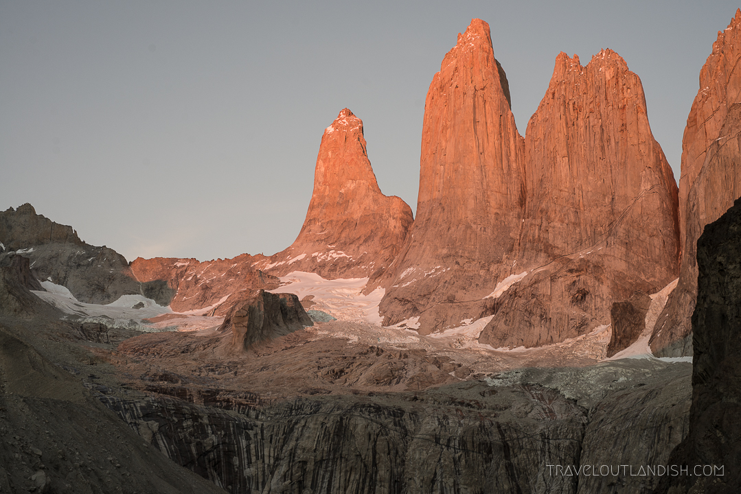 Torres del Paine on day 8 of the O Circuit