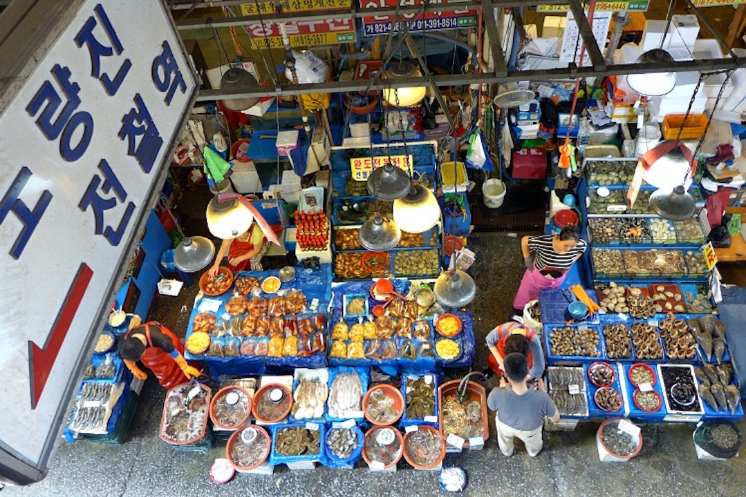 Noryangjin Fish Market - View from Overhead