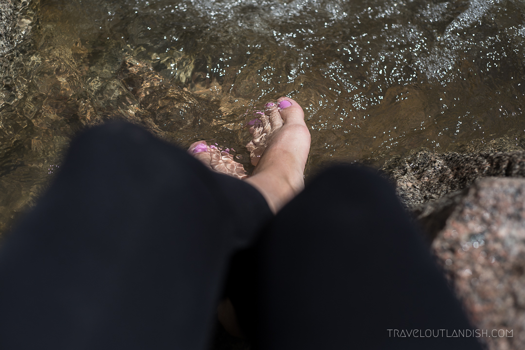 Foot Care for Hikers - Feet in a Stream