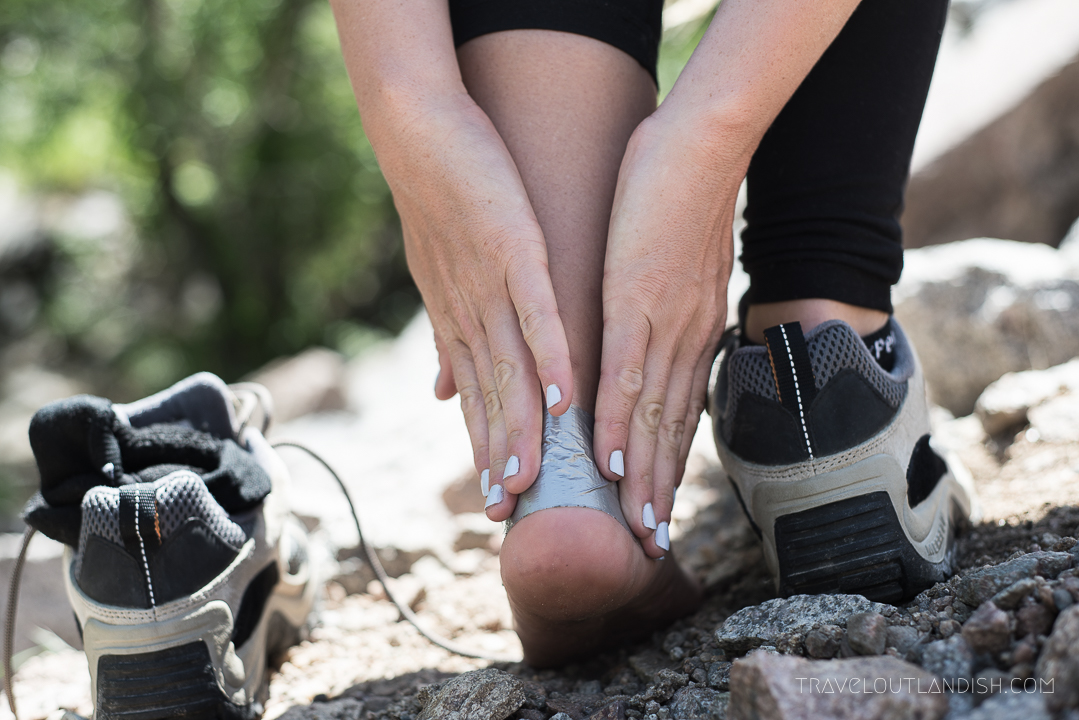 Foot Care for Hikers - Duct Taping for Blister Prevention