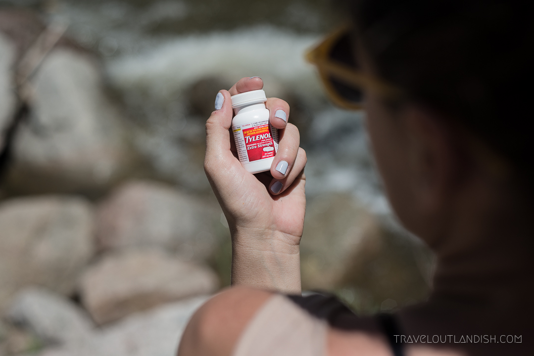 Foot Care for Hikers - Tylenol Bottle
